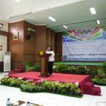 Kabid Regitrtrasi dan Dokuemtasi Museum Nasional menyampaikan sambutan mewakili kepala Museum NAsional Indonesia