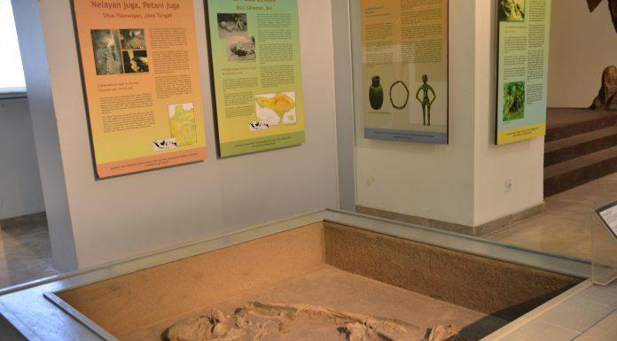 Salahsatu sudut ruang pamer di Museum Nasional yang membahas tentang situs Gilimanuk
